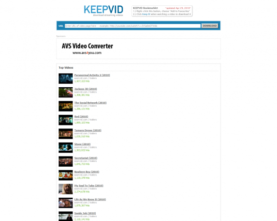 keepvid screen
